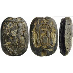Important and rare Egyptian scaraboid in ...