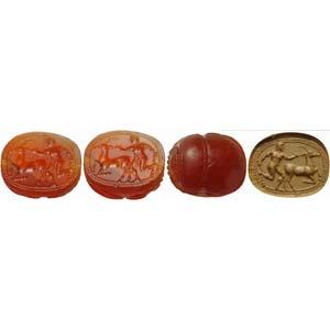 Very fine Etruscan scarab intaglio in ...