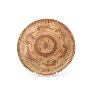 Etruscan plate with herons ca. 675 - 625 ...