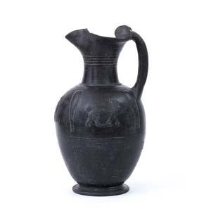 Etruscan Bucchero oinochoe with ...