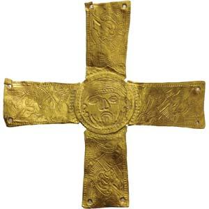 Lombardic gold cross7th century ADheight cm ...