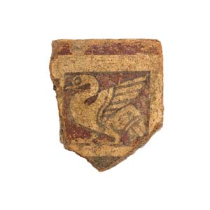 Etruscan painted tile with a swan5th century ...