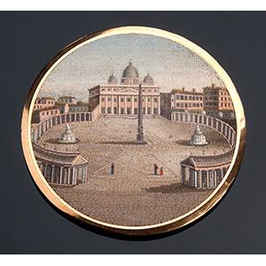 PETOCHI, Rome -  fine micromosaic plaque ...