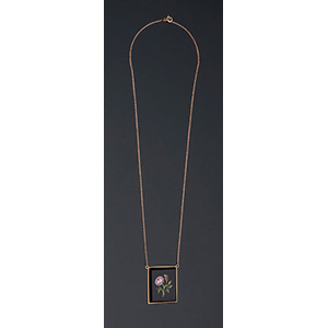 18K yellow gold necklace with an 19th ...