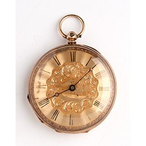 Solid 18K gold pocket watch, RAFFIN ...