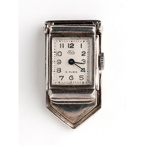 Solid 835 ‰ clip enamel watch, ELAN ...