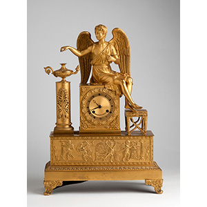 A French Gilt-Bronze table clock, mid 19th ...