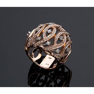 PRELATI, Italy - 18K GOLD, COCKTAIL DIAMOND ...