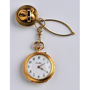 18Kt gold brooch pocket watch, Anthos early ...
