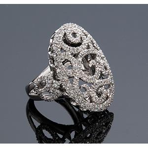 PRELATI, Italy - 18K GOLD DIAMOND RING with ...