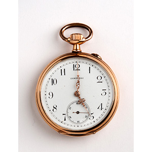 Solid 18K gold pocket watch, LONGINES ...