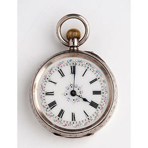 Solid  935‰ Silver pocket watch the case ...