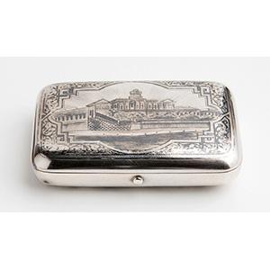 Silver and Niello Snuff box,  PETROV DANIL  ...