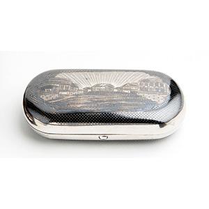 Silver and Niello sigarette case,  EGOR ...