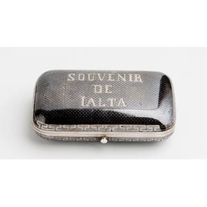 Rare Silver and Niello Snuff box, MOSCOW ...