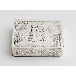 Silver Snuff box,  GERMANY early 20th ...