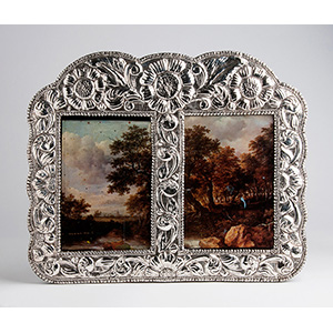 Sterling silver (925‰) double photo frame, ...