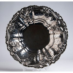 Solid 800‰  silver centrepiece, late 19th ...