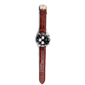 A stainless steel Chronograph Wristwatch, by ...