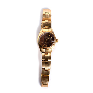 an 18K gold Ladies Wristwatch, by  ROLEX ...