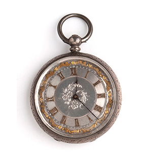 Solid Silver pocket watch the case is ...