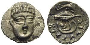 Campania, Phistelia, Obol, ca. 325-275 BC; ...