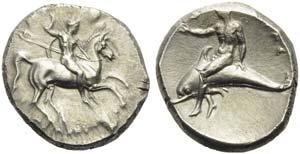 Apulia, Tarentum, Nomos, ca. 302-280 BC; AR ...