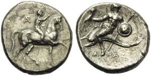 Apulia, Tarentum, Nomos, ca. 280-272 BC; AR ...
