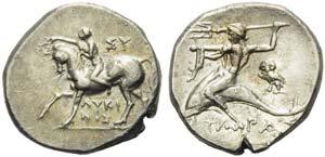Apulia, Tarentum, Nomos, ca. 272-240 BC; AR ...