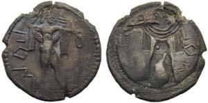 Lucania, Poseidonia, Drachm, ca. 530-500 BC; ...