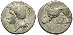 Lucania, Velia, Didrachm, ca. 334-300 BC; AR ...