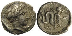 Campania, Allifae, Obol, ca. 325-275 BC; AR ...
