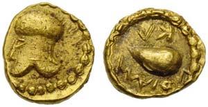 Campania, Cumae, Hemiobol, ca. 475-470 BC; ...
