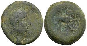 Iberia, Castulo, early 2nd century BC. Æ ...
