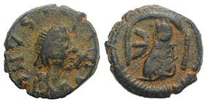 Justin I (518-527). Æ 5 Nummi (11mm, 2.11g, ...