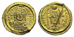 Justinian I (527-565). AV Solidus (19mm, ...