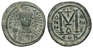 Justinian I (527-565). Æ 40 Nummi (42mm, ...
