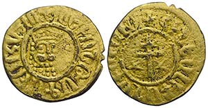 Cilician Armenia, Levon I (1198-1219). Gilt ...