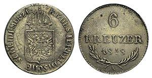 Austria, 6 Kreuzer 1848, Wien (20mm, 2.00g, ...