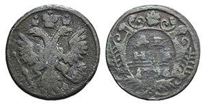 Russia, Anna Ioannovna (1730-1740). Æ 1/2 ...