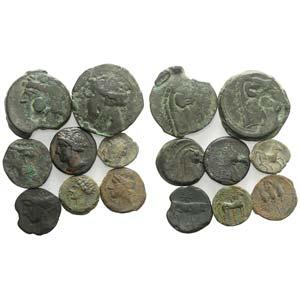 Carthaginian Domain, lot of 8 Æ coins, to ...