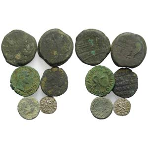 Mixed lot of 6 coins, including Greek and ...