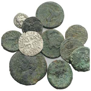 Lot of 21 Greek (6), Roman Imperial (4) and ...