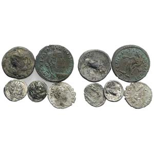Mixed lot of 5 coins, including Greek (2), ...