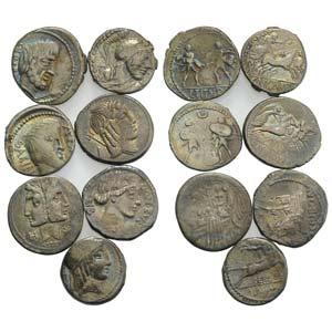 Lot of 7 Roman Republican AR Denarii, to be ...