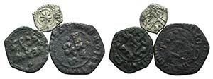 Italy, Sicily, lot of 3 Medieval coins, to ...
