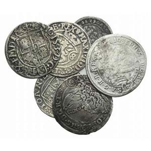 Lot of 6 European AR coins, to be catalog. ...