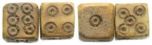 Lot of 2 Roman Bone Dices, c. 1st-3rd ...