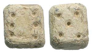 Roman lead Dice, c. 1st-3rd century AD ...