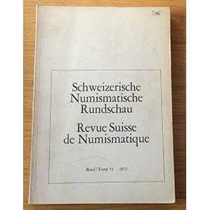 AA.VV. Revue Suisse de Numismatique. Tome ...